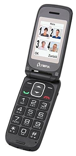 Olympia 2251 Classic Mini II Mobiltelefon-/ Seniorenhandy (Große Tasten, Notruf-Taste, Klappbares Großtasten-Handy, geeignet für Senioren, Rentner ohne Vertrag, Altersgerechtes Klapphandy mit Tasten) rot