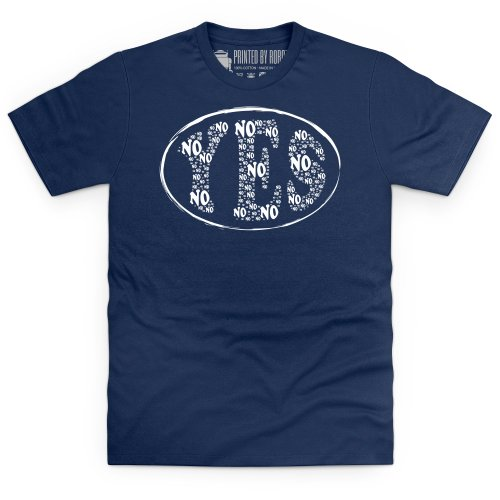 No Yes T-Shirt, Herren Dunkelblau