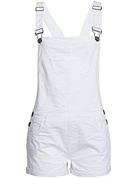Fresh Made Damen Latz Shorts Bermuda Latzhose kurz LFM-071 mit Brusttasche