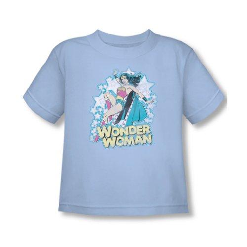 Wonder Woman Kleinkinder T-Shirt in Hellblau Sheer, 4T, Light Blue Sheer ()