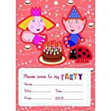 Official Ben and Holly Party Invites x with Envelopes by Ben & Holly