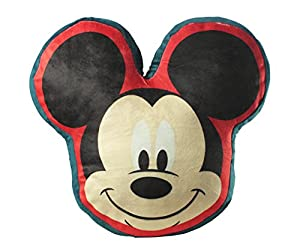 Diakakis-0561562u-Cojín (poliéster, Reversible, diseño de Cabeza de Mickey Mouse-Dimensiones 35x 35cm