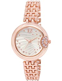 MF New Design Attractive Rose Gold Chain Look Metal Watch For Girls And Women-MF0228