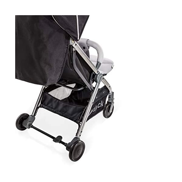 Hauck Swift Plus, Compact Pushchair with Lying Position, Extra Small Folding, One Hand Fold, Lightweight, Carrying Strap, from Birth Up To 15 kg, Silver/Charcoal Hauck EASY FOLDING - This pushchair is as easy to fold away as possible - the comfort stroller can be folded with one hand only within seconds, leaving one hand always free for your little ray of sunshine LIGHTWEIGHT - This pushchair can not only be folded away very compactly, but also easily transported by its carrying strap thanks to its light weight and aluminium frame COMFORTABLE - Backrest and footrest are multi-adjustable, the hood extendable. In addition, the pushchair comes with suspension, swiveling front wheels, soft padding, and large shopping basket 10