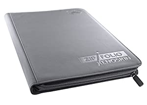 Êltimo Guardia UGD10213 - 9 de bolsillo Zipfolio Xenoskin, juego de cartas, juego de cartas, gris