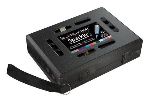 Spectrum Noir, penne Sparkle con brillantini, confezione da 12, multicolore, 16,5x 13x 4,5cm , 0,