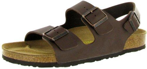 Birkenstock Mens Milano Synthetic Sandals Marron
