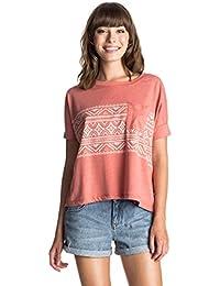 Roxy Damen Boxy Pocket Boho Border T-Shirt