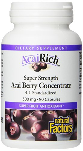 Natural Factors, AcaiRich, Concentré de baies d'açai, 500 mg, 90 gélules