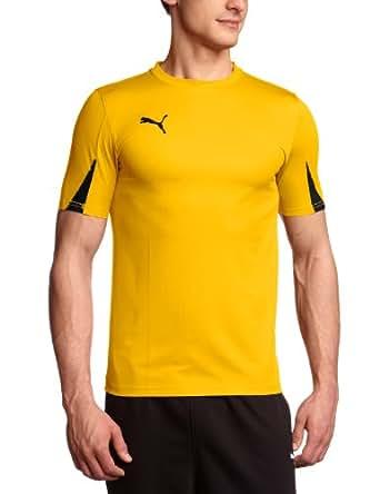 PUMA Herren T-Shirt, Team Yellow/Black, S, 701269 07