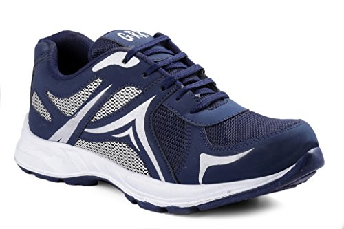 kenix world men`s Smart Fit Blue Sports Running Shoes 8