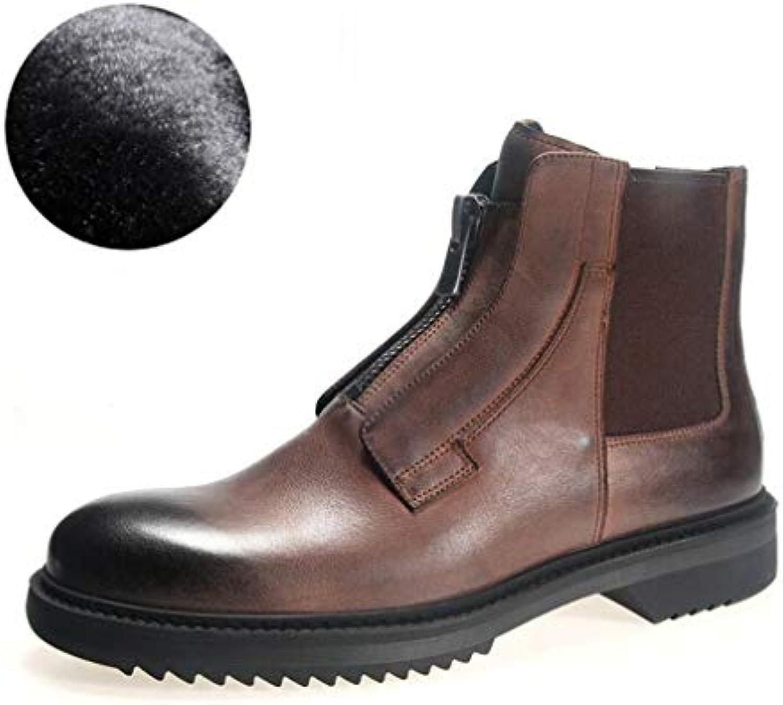 HY Scarpe da Uomo, Stivali Martins High-Top Autunno Inverno, Scarpe Formali Calde in Velluto, Scarpe Casual da... | Prima classe nella sua classe  | Uomini/Donne Scarpa