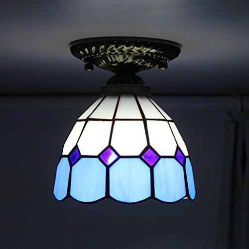 Tiffany 6 pollici mediterraneo moderno e minimalista camera da letto lampadari corridoio ingresso corridoio luci balcone lampada della cucina plafoniere