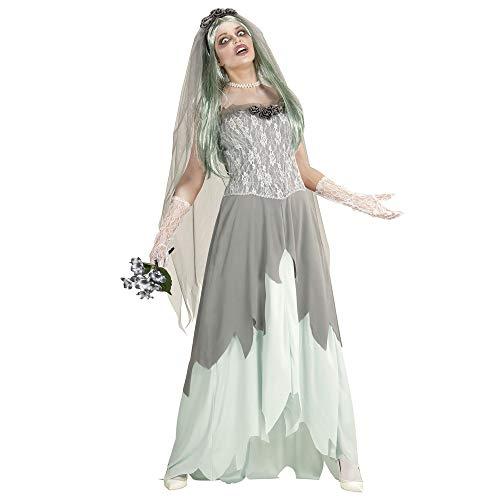 Womens Braut Kostüm Tote - Widmann 05963 Erwachsenen Kostüm Zombie Braut, womens, L