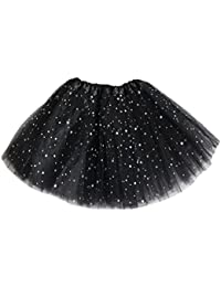 Niñas en capas de estrella falda de lentejuelas Ruffle Tiered Tulle falda de tutú para las niñas 0-8T Juleya