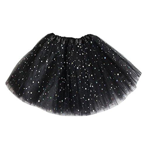 Falda Baile Chicas Mini Faldas - Falda Tul Tutú Faldas Cortas Ballet Vestir Lentejuelas Princesa Negro - De Faldas Vestir