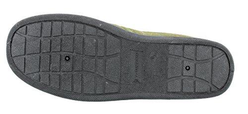 The Little Shop of Shoes  Amauri, Chaussons pour homme Vert Vert à carreaux Olive - Green