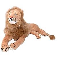 TE-Trend XL Decor Lion Big Cat Cuddly Toy Children Stuffed 70cm Stuffed Toy Brown
