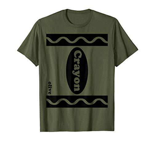 Olivgrünes Crayon-Partei-Gruppen-Halloween-Abendkleid-Kostüm T-Shirt
