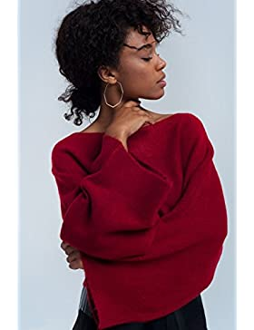 Q2 Mujer Jersey corto rojo