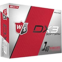 Wilson Staff Bolas de Golf Pack de 12, Jugadores intermedios, Compresión 40, Dx3 Soft SPIN, Hombre, Blanco, Talla Única