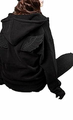 Awake Women's Long Sleeve Hoodies Angel Wings Outwear Coat