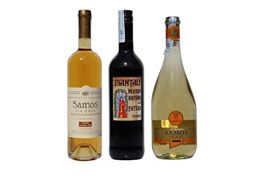 Likrwein-Probier-Set-3x-Dessertwein-Mavrodaphne-Muscat-Samos-Vin-Doux-aus-Griechenland-Rotwein-Weiwein-Swein-griechischer-Wein-Probiersachet-Olivenl-aus-Kreta
