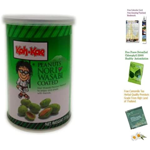 Koh-Kae snack arachidi Nori Wasabi Flavour Coated 115 G (4:06 Oz) X 3 Lattine