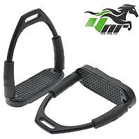 YNR ® - Estribos flexibles de acero, color negro