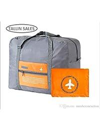 Tallin Portable Large Capacity Happy Flight Folding Travel Bag,Super Lightweight Storage Luggage Bag For Travel...