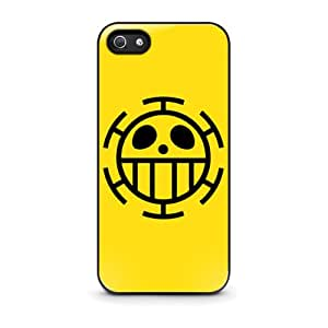 Coque iPhone 5/5s - One Piece Trafalgar Law Flag telephone Cas coquille pour iPhone 5 / 5s