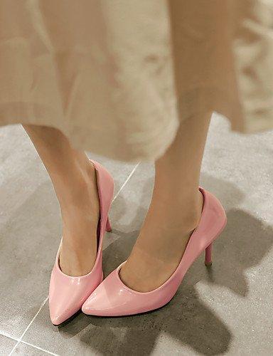 GS~LY Da donna-Tacchi-Ufficio e lavoro / Casual-Tacchi-A stiletto-PU (Poliuretano)-Verde / Rosa / Bianco pink-us6 / eu36 / uk4 / cn36