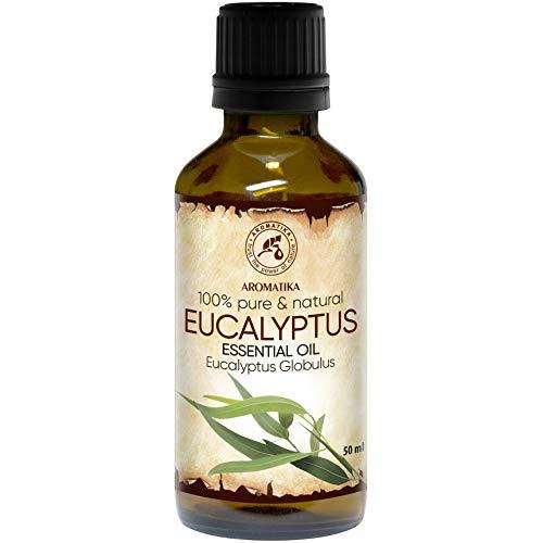 Eukalyptusöl Ätherisch 50ml - Reines und Natürliche Eukalyptus Öl - Besten für Sauna - Aroma Diffuser - Duftlampe