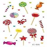 Adesivi per Tatuaggio Festa di Compleanno per Bambini Ciambelle Gelato Caramelle Carine Rosa 13 12x7.5cm