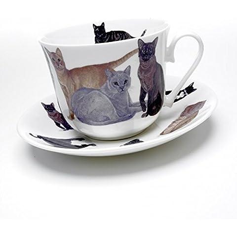 Roy Kirkham - gatos de abundancia del desayuno - taza y platillo
