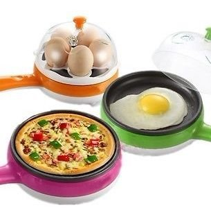 2 In 1 Multifuctional Steaming Device Frying Egg Boiling Roasting Heating