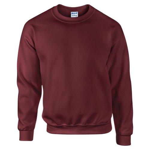 Gildan DryBlend Sweatshirt / Pullover mit Rundhalsausschnitt (2XL) (Rotbraun) -