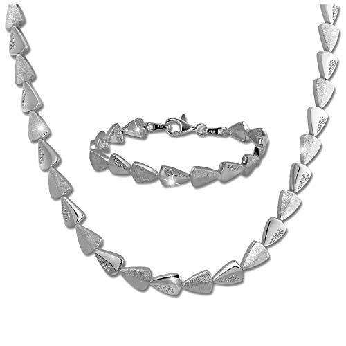 SilberDream Collier & Armband Zirkonia Damen Schmuckset Sterling Silber SDS457W