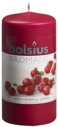 Aromatic-103626640189-Wild-Cranberry-Pillar-Candle-Paraffin-Wax-Maroon
