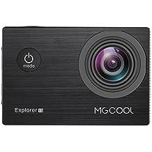 """MGCOOL Explorer 1S - 4K Videocámara Deportiva de Acción Acuáticas (LTPS Panel 2.0"""", 16MP, 1080p@60fps, 30m Sumergible, 170˚ angulo visión, 10M Wifi, WIFI Dispositivo Compatible), Negra"""