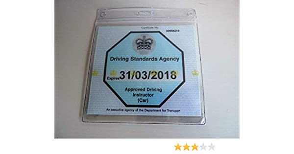 WALLET AND PROTECTOR WITH 1 WINDSCREEN SUCTION CUP BITS4REASONS ADI BADGE HOLDER