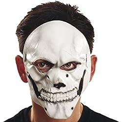 My Other Me Máscara de calavera, color blanco (Viving Costumes 200349)
