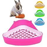 MINGZE Aseo para Mascotas, Caja de Arena de Esquina de Potty Trainer, para Ratas pequeñas, hámsters, cobayas (Colores aleatorios)