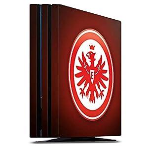 DeinDesign Skin kompatibel mit Sony Playstation 4 PS4 Pro Aufkleber Folie Sticker Eintracht Frankfurt Offizielles Lizenzprodukt Wappen