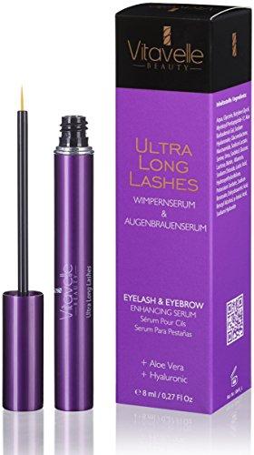 Wimpernserum und Augenbrauenserum 8 ml Ultra Long Lashes ohne Prostaglandine zur Verlängerung der...