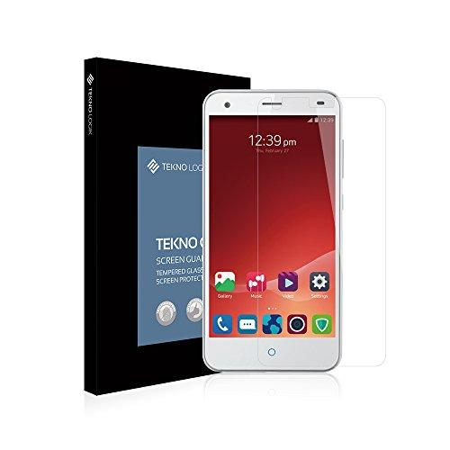 ZTE Blade S6Protector de pantalla de cristal templado by Tekno Logik–Ultra Thin [0.33mm] Top Dureza [9H]–[resistente a los Arañazos] [Colocación] [Revestimiento oleofóbico] mejor protección de la pantalla para ZTE Blade S6