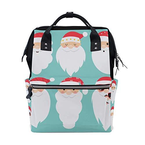 Giant Christmas Santa New Year Große Kapazität Wickeltaschen Mama Rucksack Multi Funktionen Windel Pflege Tasche Tote Handtasche Für Kinder Babypflege Reise Täglichen Frauen -