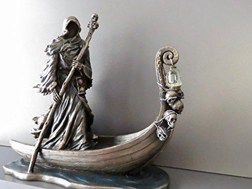 Charon, Griechischer Mythos Fährmann der Toten mit Laterne (Dekorative Bronzestatue, Figur 25cm)