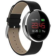 LCD Deporte Sleep Rastreador ritmo cardíaco FITNESS podómetro pulsera reloj inteligente, plata