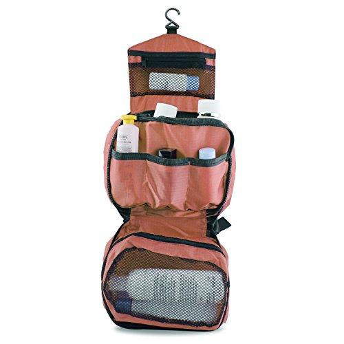 PsmGoods® Viaggi cosmetici Make up da toeletta della borsa del supporto Hanging bellezza del sacchetto dell'organizzatore Wash (Rosa) - Supporto Della Borsa Di Visualizzazione